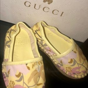 Authentic Toddler Girls Gucci Espadrilles